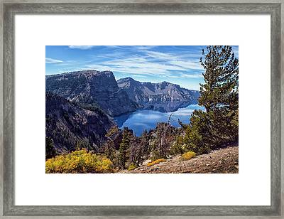 South Rim Of Crater Lake Framed Print by Frank Wilson