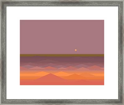 Framed Print featuring the digital art South Sea Abstract by Val Arie