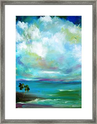 South Sea Blue Lagoon Framed Print by Patricia Taylor