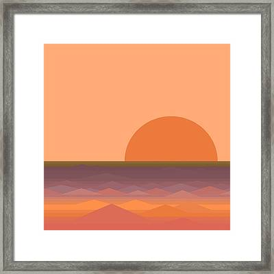 Framed Print featuring the digital art South Sea Sunrise by Val Arie