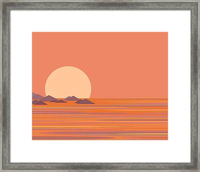 Framed Print featuring the digital art South Sea by Val Arie