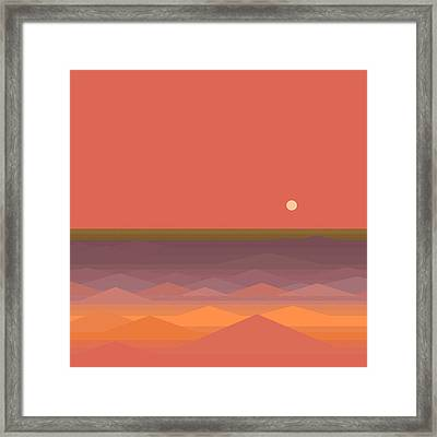 Framed Print featuring the digital art South Seas Abstract by Val Arie