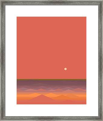 South Seas Abstract - Vertical Framed Print