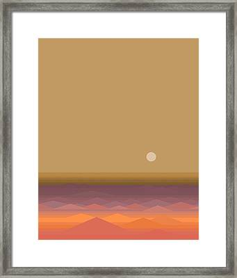 Framed Print featuring the digital art South Seas Sunrise - Vertical by Val Arie