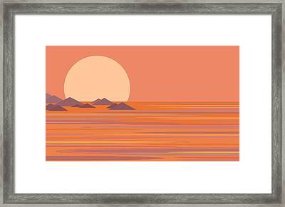 South Seas Framed Print