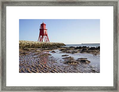 South Shields Groyne Framed Print by Nichola Denny