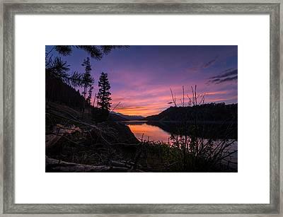 South Shore Lake Dillon Sunset Framed Print