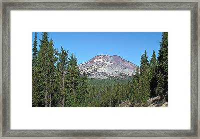 South Sister Framed Print by Larry Darnell