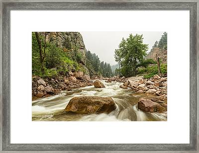 South St Vrain Canyon Boulder County Colorado Framed Print by James BO  Insogna