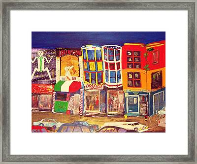 South Street Framed Print