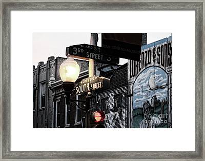 South Street Philly 1 Framed Print by Chuck Kuhn