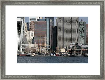 South Street Seaport From Brooklyn Framed Print