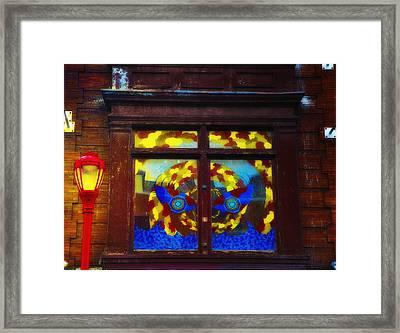 South Street Window Framed Print by Bill Cannon