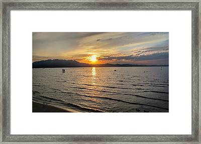 South Tahoe Sunset Framed Print