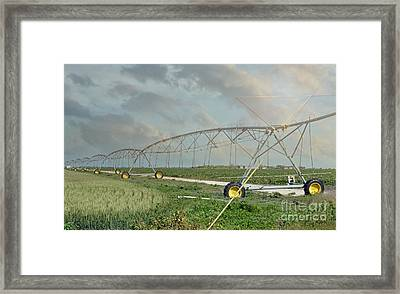 South Texas Irrigation Framed Print by Darla Rae Norwood