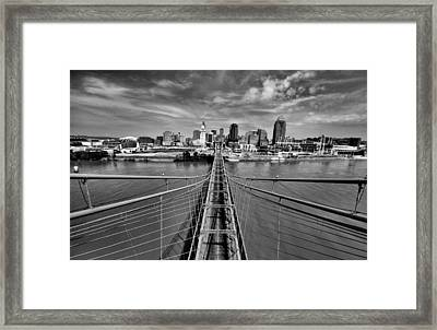 South Tower Framed Print by Russell Todd