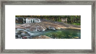 South Umpqua Falls Framed Print by Leland D Howard
