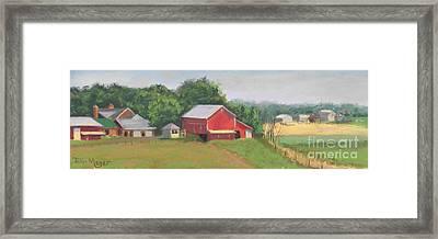 South View Of Meyer Farm Framed Print by Terri  Meyer