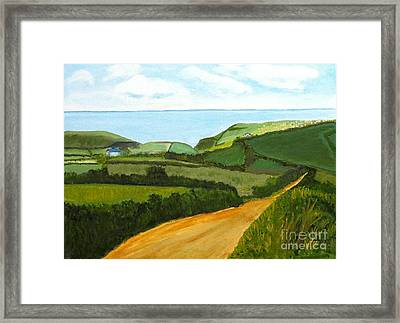 South West England Countryside Cotswold Area Framed Print by Rod Jellison