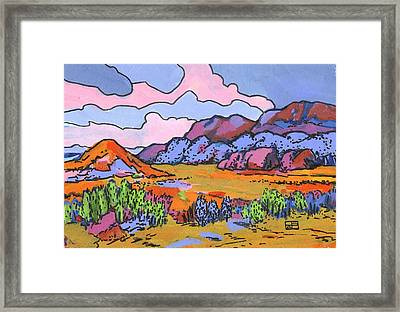South West Landscape Framed Print by Helen Pisarek