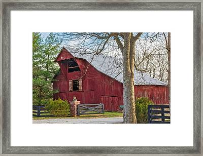 Southall Road Red Barn Framed Print