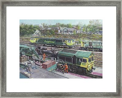Southampton Freightliner Train Maintenance Framed Print
