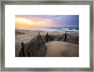 Southampton Morning Beach Walk Framed Print