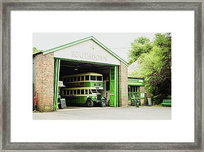 Southdown Bus Framed Print by Angela Aird