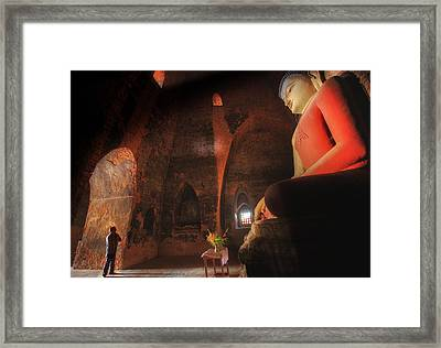 Southeast Asian Man Praying  Framed Print