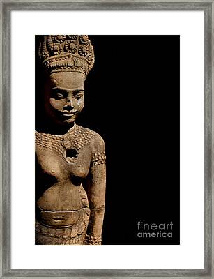 Southeast Asian Spiritual Statue - Cambodia Framed Print by Louise Fahy