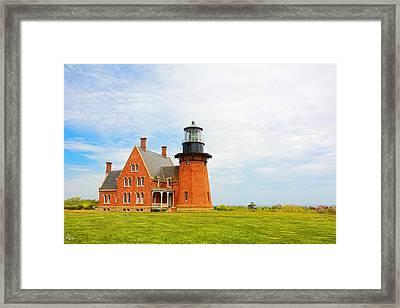 Southeast Light Block Island Framed Print by Lourry Legarde