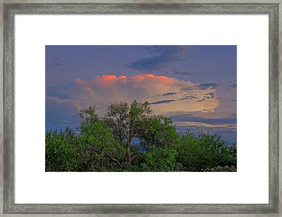 Framed Print featuring the photograph Southeast Of Sunset H38 by Mark Myhaver