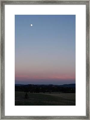 Southern Black Hills Moon Framed Print