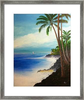 Framed Print featuring the painting Southern Breeze by Mike Ivey