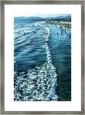 Southern California Beach Framed Print by Jill Battaglia