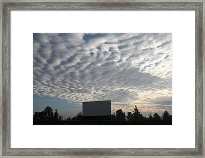 Southern California Drive-in Framed Print by Suzanne Lorenz