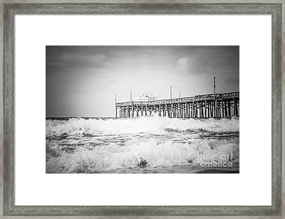 Southern California Pier Black And White Picture Framed Print