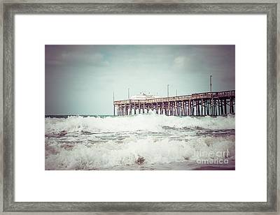 Southern California Pier Vintage 1950s Picture Framed Print by Paul Velgos