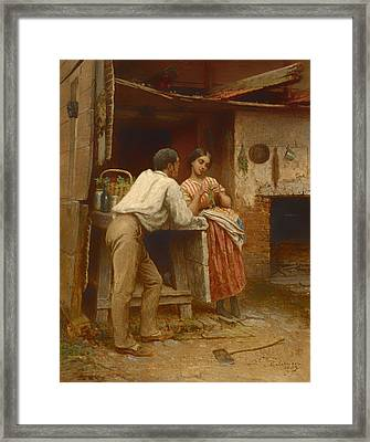 Southern Courtship Framed Print