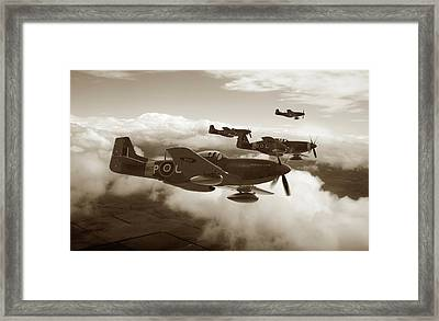 Southern Cross Mustangs - Sepia Framed Print