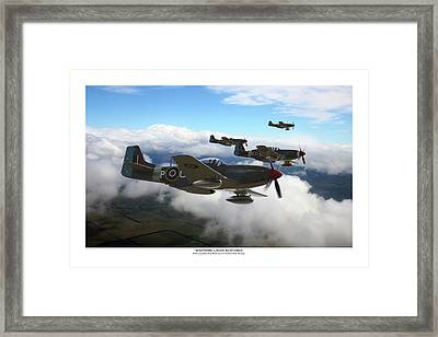 Southern Cross Mustangs - Titled Framed Print