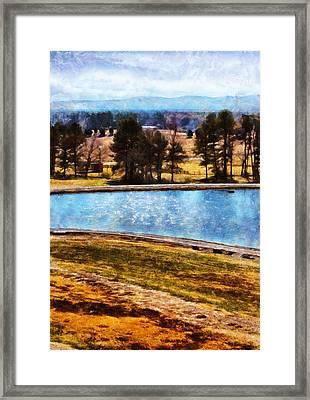 Southern Farmlands Framed Print