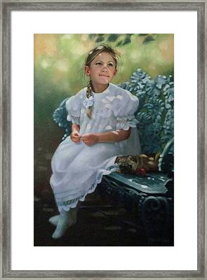 Southern Girl Portrait Framed Print