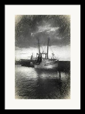 Water Vessels Mixed Media Framed Prints