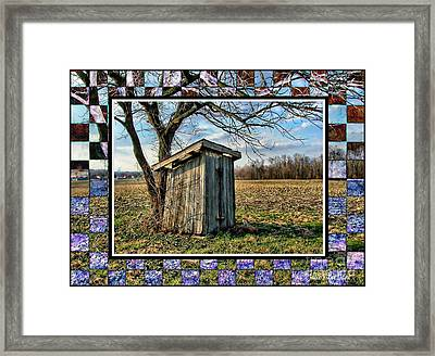 Southern Indiana Outhouse Framed Print by Julie Dant