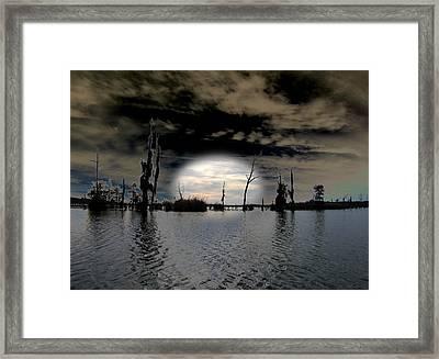 Southern Lake Framed Print by Rick McKinney