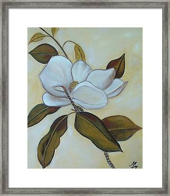 Southern Magnolia Framed Print by Martha Mullins