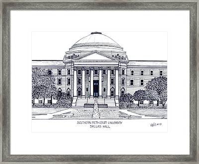 Southern Methodist University Framed Print by Frederic Kohli