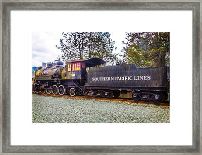 Southern Pacific Lines Old Train Framed Print by Garry Gay