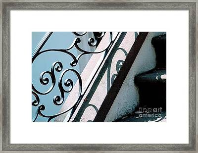 Southern Porch Shadows Framed Print